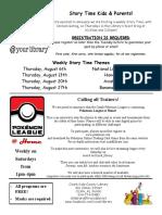 8.2020 Kids Newsletter Flyer