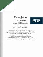 (Goldoni, Carlo) Don Juan Tenorio (Original)