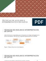 SESIÓN 18 TÉCNICAS DE ANÁLISIS E INTERPRETACIÓN DE DATOS.