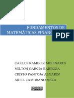 Fundamentos de Matem†ticas Financieras (1)