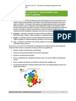 176 Education Continuity Management and Emergency Response Planning June2014