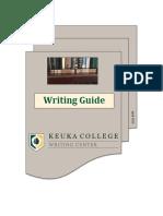 keuka college writing guide