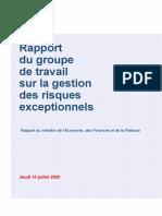 GT Risques Exceptionnels - Rapport