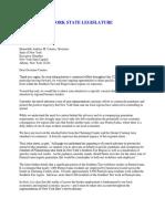 Letter to Gov. Cuomo seeking travel advisory exemption