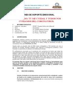 PLAN DE SOPORTE EMOCIONAL TUTORIA 2020