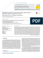 Mathematical analysis of reduction of copper oxide pellets byhydrogen using the shrinking core model