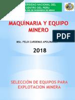 SELECCION DE EQUIPOS EN MINERÍA