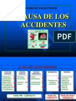 CAUSA DE LOS ACCIDENTES
