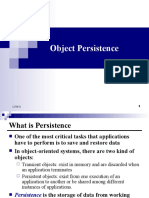 1 Object Persistence