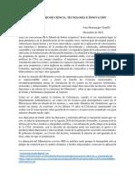 EL MINISTERIO DE CIENCIA, TECNOLOGÍA E INNOVACIÓN