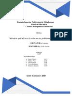 Métodos aplicados en la solución de problemas de transporte 1