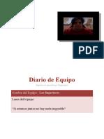 Diario de Equipo BALANCE DE MASA
