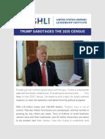 USHLI - Trump Sabotages the 2020 Census