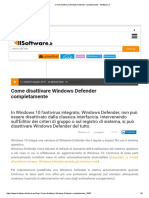 Come disattivare Windows Defender completamente - IlSoftware.it