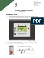 UPS - GUIA DE PROCEDIMIENTO PARA APAGADO Y ENCENDIDO DE UPS LP 33 CE 10-40 KVA