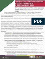 Inscripciones y reinscripciones Estado de México 2020-2021