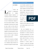 Cronica personal Desplazamiento forzado en colombia- Stefania Guzman F