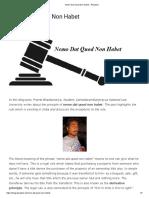 Nemo Dat Quod Non Habet - iPleaders