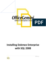 Installing Dokmee Enterprise SQL 2008