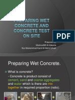 Concrete Test on Site