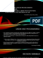 DEFINITION OF LINEAR PROGRAMMING