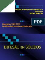 DIFUSAO EM SOLIDOS
