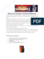 Manual de Configuração Maximus Arcade Frontend