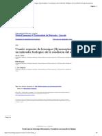 Uso de especies de hormigas (Hymenoptera_ Formicidae) como indicador biológico de la condición del agroecosistema