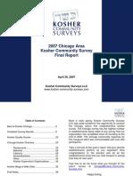 2007 Chicago Kosher Community Survey - Final Report
