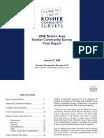 2008 Boston Kosher Community Survey - Final Survey Report