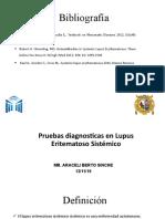 Pruebas diagnosticas en Lupus Eritematoso Sistémico