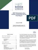 2007 Philadelphia Kosher Community Survey - Final Report