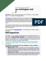 HV Switchgear IEC 62271-200 notes