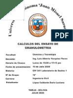Calculos Ensayo N°3 (Granulometria)