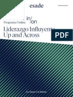 Esade - Folleto Open Programme Liderazgo Influyente. Up and Across