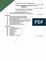 First year B.Sc. Nursing Question Paper  2005