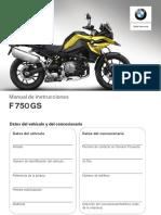 Manual F750GS