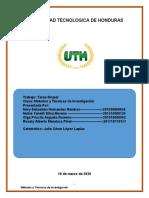 Tarea Grupal Metodos y Tecnicas de Investigacion actualizada