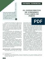 CONOCIMIENTO DE EMBARQUE - Y carta de porte