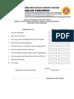 Berkas Pendaftaran Calon Ketua Karang Taruna