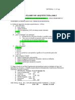 PREGUNTAS 1 Y 2 PRIMER PARCIAL EXAMEN ARQUITECTURA A
