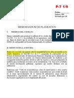 8.- MEMO PLAN AUDITORIA FINANCIERA