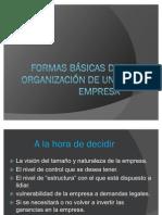 Formas básicas de organización de una empresa