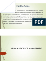 5. Human resource management (HRM)
