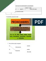 Grado 2 El pronombre personal y el verbo