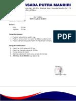 Alur Proses Produksi SAN Oxy Bost SOB03