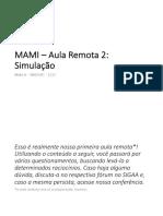 MAMI - Aula Remota 2 - Simulacao