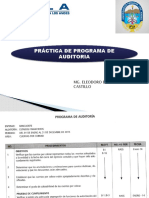 Práctica de programa de auditoria