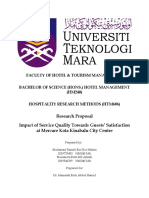 RESEARCH PROPOSAL Impact of Service Quality Towards Guests' Satisfaction at Mercure Kota Kinabalu City Centre