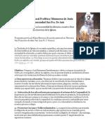 Propuesta de Pastoral Profética 2020-2
